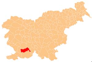 Municipality of Pivka - Image: Karte Pivka si