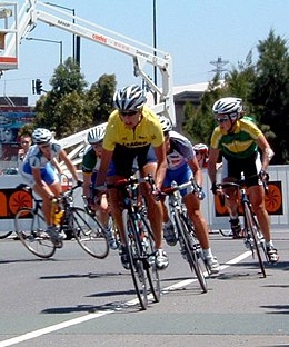 Katie Mactier breakaway 2006 Bay Cycling Classic (cropped).jpg
