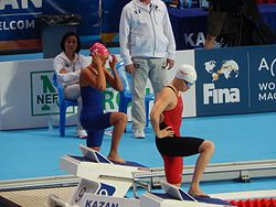 Kazan 2015 - Jhennifer Conceição and Shi Jinglin.JPG