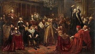 <i>Sermon of Piotr Skarga</i> painting by Jan Matejko