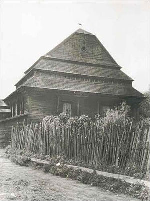 Kažan-Haradok - Synagogue built around 1880, as it appeared in 1916