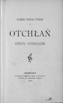 Otchłań Tetmajer 1900 Wikiźródła Wolna Biblioteka