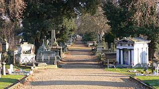 cemetery in Kensal Green, in the west of London, England
