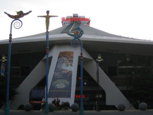 Sonics Arena - The east entrance to KeyArena.