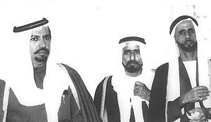 Khalifa Bin Yousef - Sheik Hamdan Al Nahyan, Khalifa Bin Yousef and Thani Bin Murshid