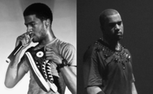 Kid Cudi (left) and Kanye West (right), the two members of Kids See Ghosts