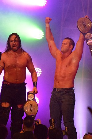 Killer Elite Squad - Archer and Smith as the IWGP Tag Team Champions in September 2017
