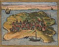 Kilwa Kisiwani - Ca. 1572 view of Aden and 3 other ports (cropped).jpg