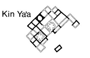 Kin Ya'a - Image: Kin Ya'a site map