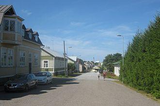 Reposaari - Kirkkokatu street.