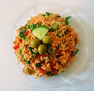 """Kısır"" is a couscous salad from Tur..."