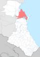 Kizlyarsky district locator map.png