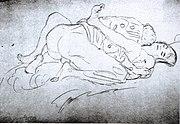 Les missionnaires, dessin de Gustav Klimt