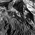 Knife Creek Glacier, mountain glacier, mostly covered in rocks and other debris, August 24, 1960 (GLACIERS 7009).jpg