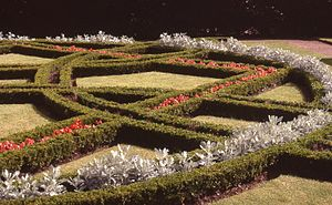 Knot garden - Knot Garden at St Fagans museum of country life, south Wales