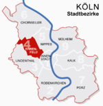 Location of Ehrenfeld shown in red
