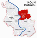 Location of Mülheim shown in red