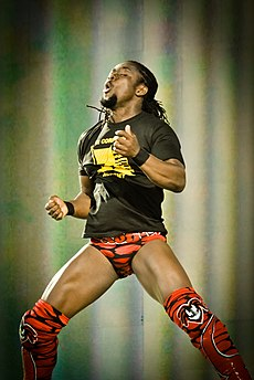 Kofi Kingston 2010 Tribute to the Troops.jpg