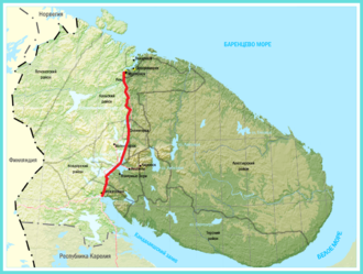 Kola Peninsula - Kola Peninsula as a part of Murmansk Oblast