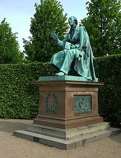 The Statue Of Hans Christian Andersen In Rosenborg Garden