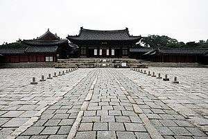 Changgyeonggung - Image: Korea Seoul Changgyeonggung Myeongjeongjeon 01