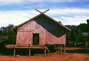 Meeting house in a Kreung village near Banlung