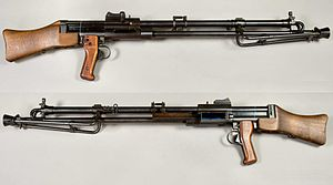 Kg m/40 light machine gun - Image: Kulsprutegevär m 1940 Sverige 6,5x 55mm Armémuseum