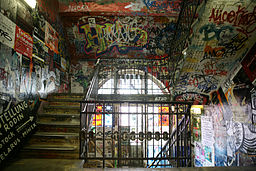 Kunsthaus Tacheles stairway with Graffiti