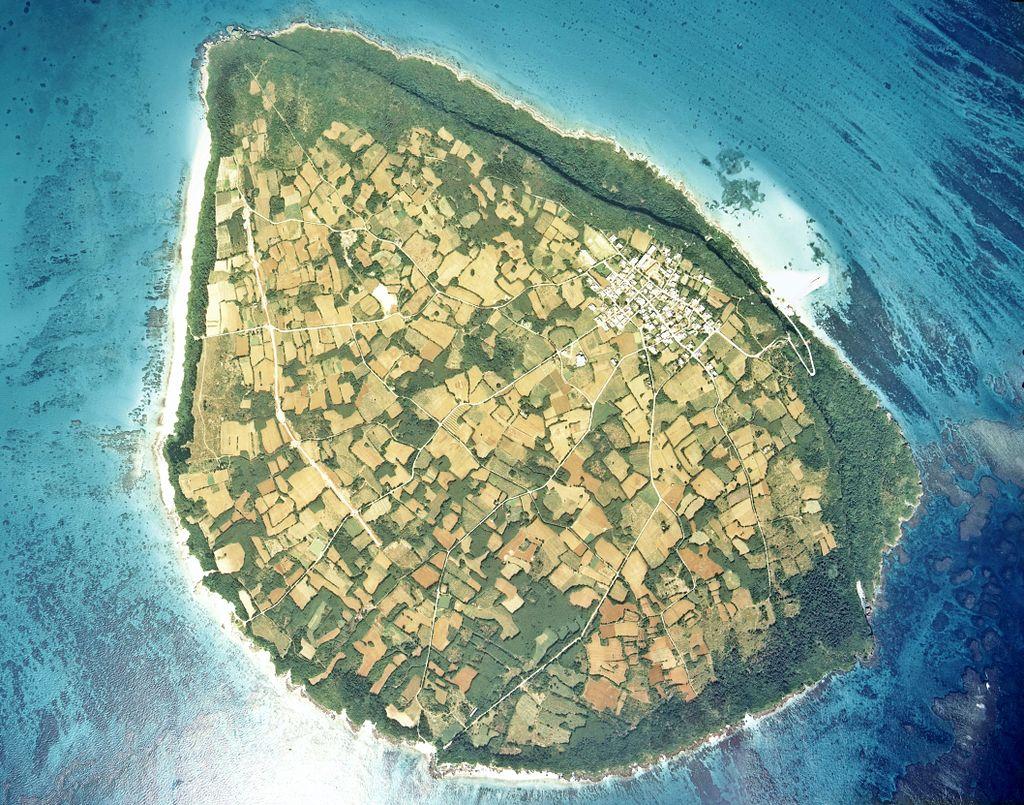 Kurima Island Aerial photograph