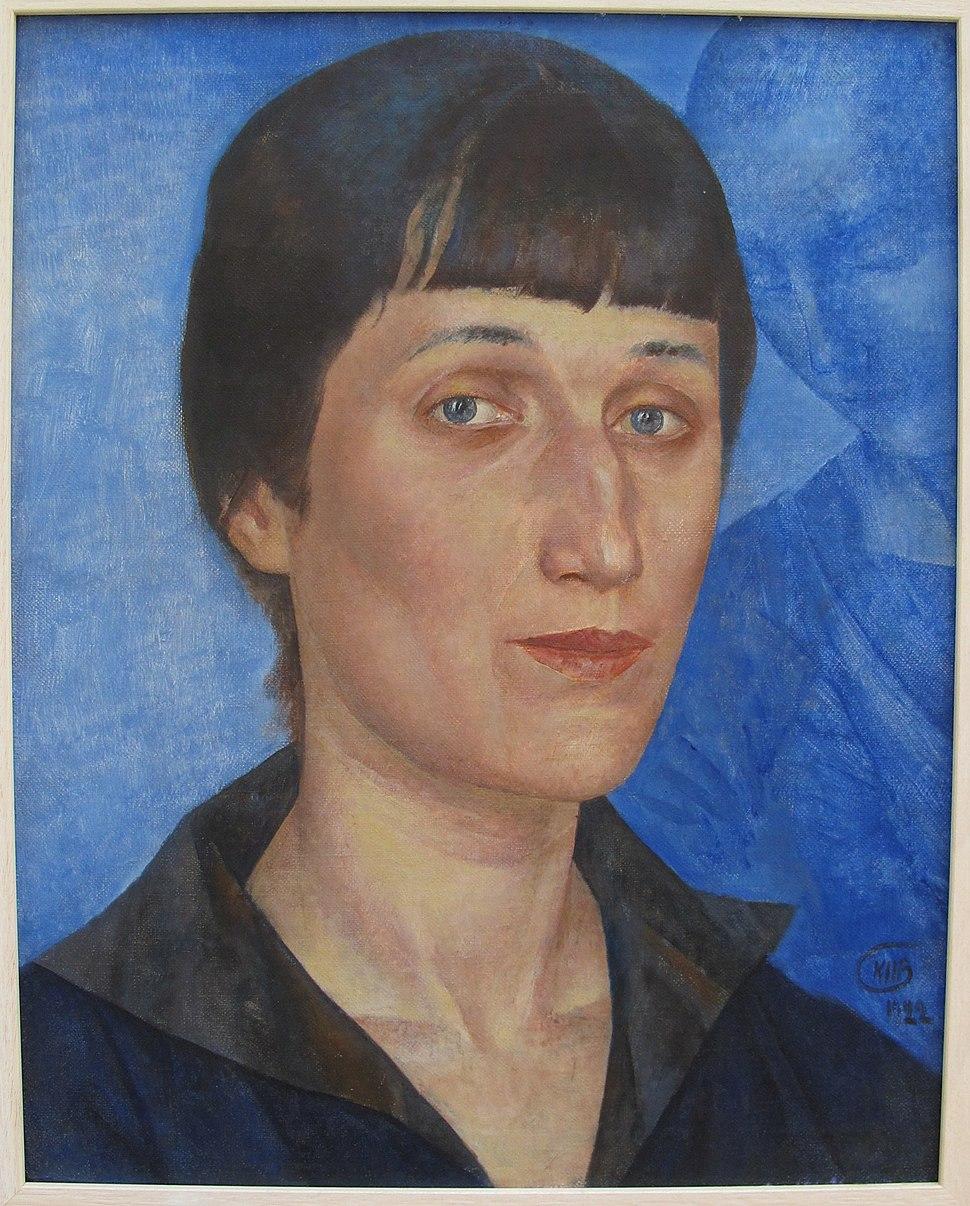 Kuzma petrov-vodkin, ritratto di anna akhmatova, 1922