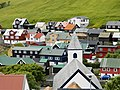 Kvivik the church and village July 2012.JPG
