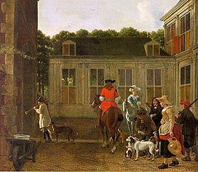 L. de Jongh Hunting Party circa 1665-1670.jpg