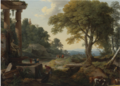 LANDSCAPE WITH TWO WOMEN AT A FOUNTAIN.PNG