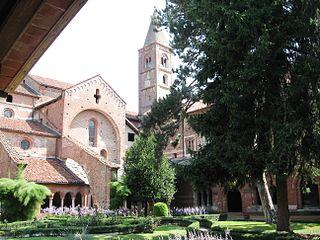 Staffarda Abbey Cistercian monastery located near Saluzzo in north-west Italy