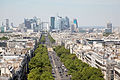 La Défense from the Arc de Triomphe, Paris 2 August 2015.jpg