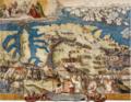 La smontata dell' armata a Marsascirocco, Eco mericonosce le fortezze di borgo, e isola. 20.05.1565.png