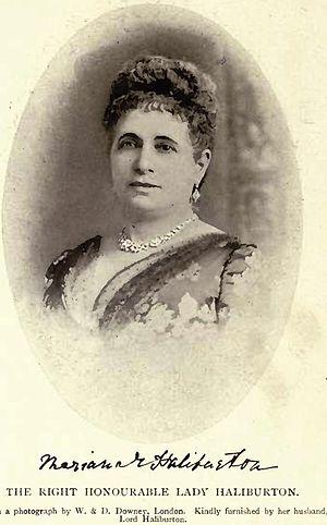 Arthur Haliburton, 1st Baron Haliburton - Mariana Emily Lady Haliburton by W. & D. Downey