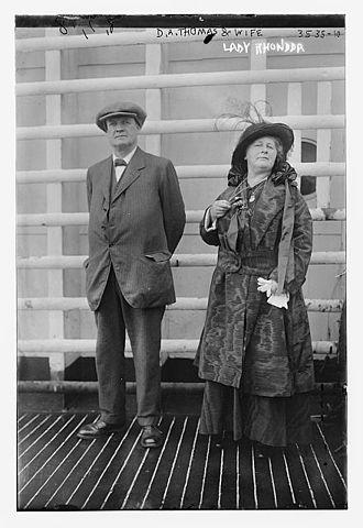 D. A. Thomas - Lord and Lady Rhondda (presumed early 1900s)