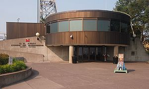 Lake Superior Maritime Visitor Center - The Lake Superior Maritime Visitor Center from the east