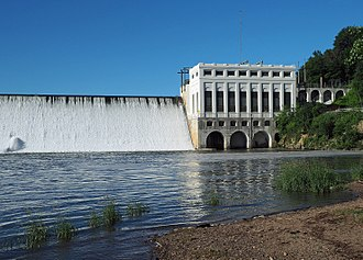 Lake Zumbro Hydroelectric Generating Plant - The Lake Zumbro Hydroelectric Generating Plant and Dam viewed from the north