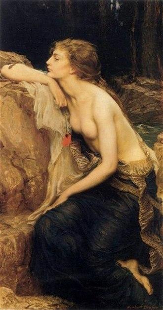 Anjana (Cantabrian mythology) - Lamia by Herbert James Draper, 1909.