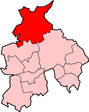 Lancaster shown within Lancashire