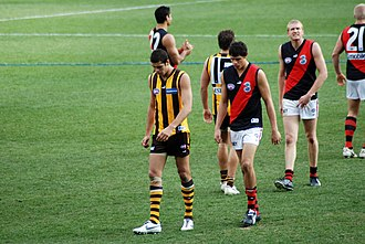 Lance Franklin - Franklin playing against Essendon in round 18, 2007