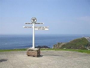 Land's End to John o' Groats - Image: Landsendsignpost