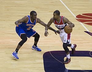 Ramon Sessions - Sessions with the Wizards in March 2015, being defended by Langston Galloway.