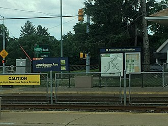 Lansdowne Avenue station (SEPTA Routes 101 and 102) - Lansowne Ave station