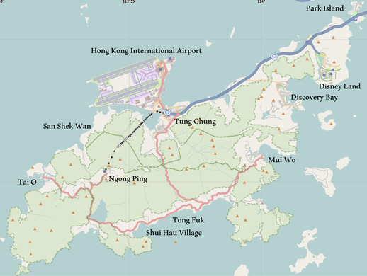 Map of Hong Kong/Lantau