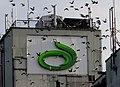 Lantmännens logotyp på en av deras silos i Ystads hamn.jpg