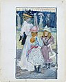 Large Boston Public Garden Sketchbook- Two girls and a woman in a veiled hat MET DT3425.jpg
