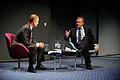 Lars Loekke Rasmussen, statsminister Danmark, samtalar med Martin Breum, journalist, vid oppnandet av Nordic Climate Solutions 2009. 2009-09-08.jpg